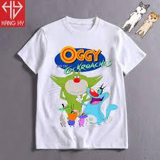 Áo Thun Mèo OGGY Và Những Chú Gián Tinh Nghịch Trẻ Em Vải Cotton 4 Chiều  F118