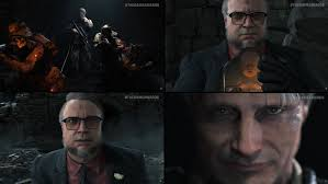 Mads Mikkelsen and Guillermo del Toro in Hideo Kojima's Death Stranding :  gaming