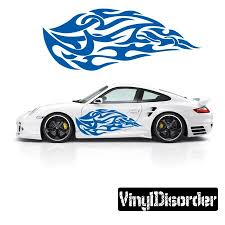 Tribal Flames Wall Decal Vinyl Decal Car Decal Dc 005 36 Inches Walmart Com