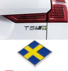 Car Side Door Fender Trunk Metal 3d Sticker Decal Swedish Flag Emblem For Volvo S80 S90 C30 C70 Xc40 Auto Decorative Supplies Wish