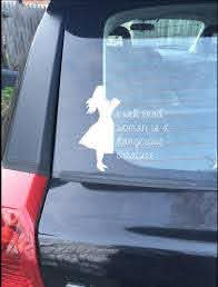 A Well Read Woman Is A Dangerous Creature Reading Books Vinyl Graphic Car Window Decal Sticker Car Window Decals Window Decals Creatures