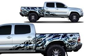 Product Toyota Tacoma 2005 2018 Long Bed Custom Half Side Decal Truck Wrap Nightmare
