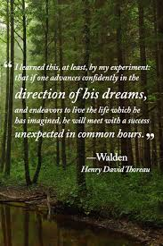 direction of his dreams journal quotation from walden by henry