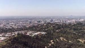 Blue skies and clean air in Los Angeles ...