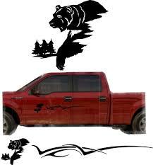 Amazon Com Bear Hunting Trailer Decals Truck Decal Side Set Vinyl Sticker Auto Decor Graphic Kit Tt03 Kitchen Dining