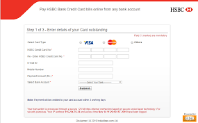 hsbc credit cards bill payment know