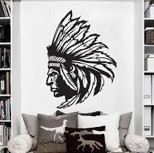 Redskin Native American Indian Chief Wall Decal Sticker Decor Wall Art Vinyl Home Decor Wall Stickers Free Shipping Wall Decals Stickers Wall Stickerdecorative Wall Stickers Aliexpress