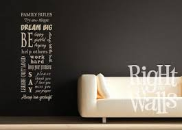 Family Rules Sign Wall Decals Vinyl Art Stickers