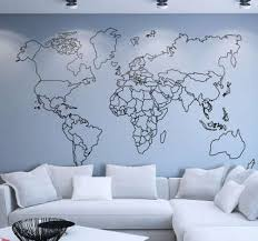 Incredible World Map Wall Stickers For You Tenstickers