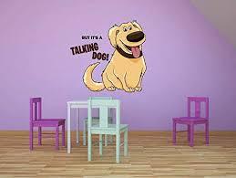 Amazon Com Talking Dog Up Movie Cartoon Quotes Decors Wall Sticker Art Design Decal For Girls Boys Kids Room Bedroom Nursery Kindergarten House Home Decor Stickers Wall Art Vinyl Decoration 40x40 Inch Home