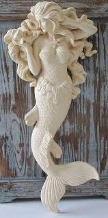 beautiful large flowing hair mermaid