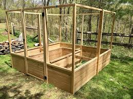 8ft By 8ft Raised Cedar Garden Bed With Deer Fence Includes Delviery Assembly Beds Bed Frames Putnam Valley New York Facebook Marketplace Facebook