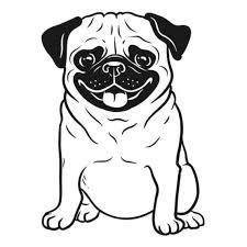 Pug Full Body Dog Decal Vinyl Sticker For Car Wall Laptop Etsy
