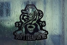 Don T Tread On Me 1776 Patriotic Vinyl Decal Laptop Etsy Vinyl Decals Laptop Decal Vinyl