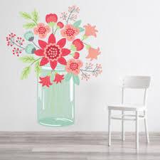 Pink Flower Bunch Floral Vase Wall Decal Sticker Ws 46836 Ebay