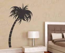 Amazon Com Palm Tree Wall Decal Vinyl Graphic Silhouette Hawaii Tropical Island Art Sticker Large Decoration Sign Decor Mural Home Kitchen