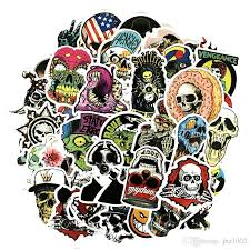 2020 Stickers Pack Mix Skull Design Stickers Amazing Face Skateboard Graffiti Laptop Luggage Car Decal From Jhz1002 0 91 Dhgate Com