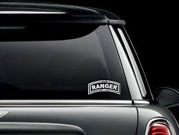 Us Army Ranger Tab Custom Car Truck Van Window Or Bumper Etsy