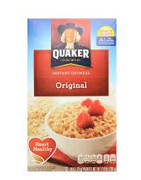 instant oatmeal original by quaker 12