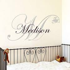 Amazon Com Wall Decals Girl Bedroom Name Decal Owl Decal Monogram Decal Stickers Nursery Girl Room Decor Ds301 Home Kitchen