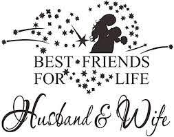Amazon Com Winomo Best Friends For Life Husband Wife Wall Quote Sticker Art Decoration Vinyl Decal Home Kitchen