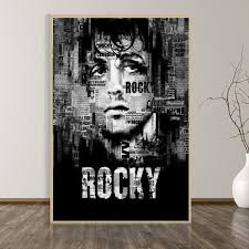 Unframed Printed Poster Rocky Balboa Boxing Bodybuilding Famous Pictures Canvas Modern Oil Art Home Wall Decal Wish