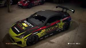 Need For Speed 2015 Ps4 Building Tanner Foust Rockstar Energy Drink Scion Tc Wrap Decal On A Frs Youtube