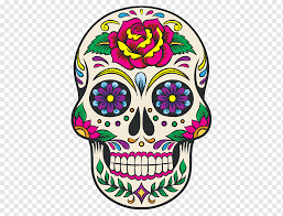 Sugarcandy Illustration Calavera Day Of The Dead Decal Skull Die Cutting Skull Car Color Sticker Png Pngwing