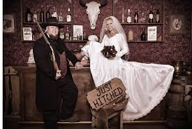 saloon wedding picture of old time