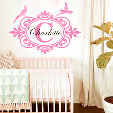 Wall Decal Initial Lettering Custom Personalized Name Baby Family Decor Nursery Children Room Vinyl Sticker Home Murals M 94 Stickers Home Name Wall Decalswall Decals Aliexpress