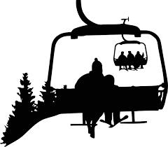 Amazon Com Ski Lift Wall Decal Ski Wall Decor Sign Ski Wall Art Skiing Vinyl Sticker Sport Skier Gifts Fitness Print Ski Poster Winter Wall Decor St Arts Crafts Sewing