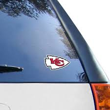Kansas City Chiefs Wincraft Logo 4 X 4 Color Perfect Cut Decal