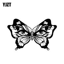 Yjzt 17 9 11 5cm Decal Butterfly Insect Women S Eyes Car Sticker Vinyl Decor Accessories Bumper Window Decals C12 0563 Car Stickers Aliexpress