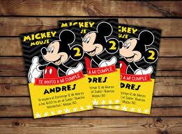 Tarjeta De Cumple Mickey Mouse Personalizada Disney