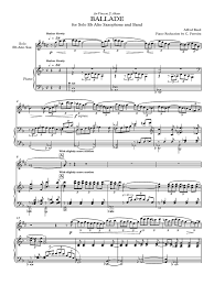 Ballade - Alfred Reed | Saxophone | Modernisme (Musique)