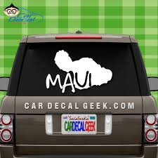 Maui Hawaii Island Car Window Vinyl Decal Sticker
