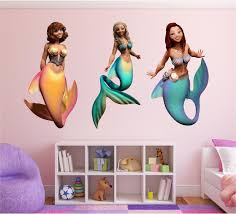 Mermaid Pack 3x Mermaid Wall Decals Stickit Graphix