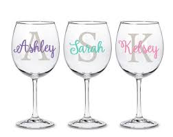 Diy Personalized Wine Glass Monogram Decal Tumbler Water Etsy In 2020 Wine Glass Decals Personalized Wine Glass Diy Wine Glass