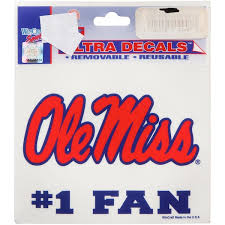 Ole Miss Car Decals Ole Miss Rebels Bumper Stickers Decals Fanatics
