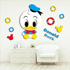 Cartoon Mickey Mouse Donald Duck 3d Three Dimensional Acrylic Wall Stickers Children S Room Decoration Stickers Kindergarten Wall Stickers Sale Price Reviews Gearbest