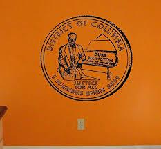Amazon Com Wall Art Vinyl Graphics District Of Columbia Quarter Duke Ellington Antique Pic Sticker Decal Vm124 Home Kitchen