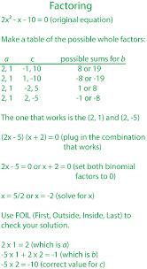 deciding on a method to solve quadratic