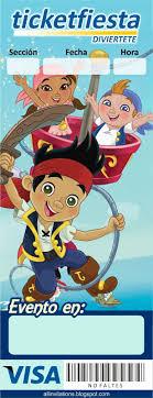 Ticketmaster Jake Y Los Piratas Con Imagenes Invitaciones Para