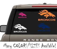 Denver Broncos Nfl Football Vinyl Window Decal Sticker Auto Parts And Vehicles Car Truck Graphics Decals Magenta Cl