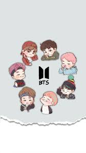bts cartoon wallpapers top free bts