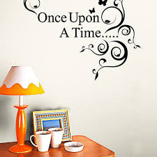 Buy Once Upon A Time Home Decor Wall Sticker Decal Bedroom Vinyl Art Mural V1259 By Yuanzala On Opensky