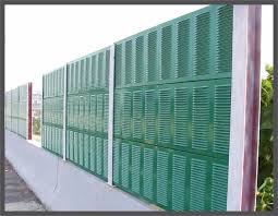 Highway Sound Metal Barrier Wall Noise Absorbing Barrier Fence Noise Barrier Panel Sound Barrier Fence Design Noise Barrier