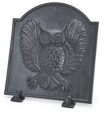 owl iron fireback plowhearth