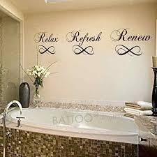 Amazon Com Battoo Relax Refresh Renew Bathroom Vinyl Wall Decal Bathtub Wall Sticker Home Decor Black 6 H X 34 W Home Kitchen