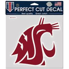 Washington State Cougars Wincraft 8 X 8 Color Car Decal Washington State University Washington